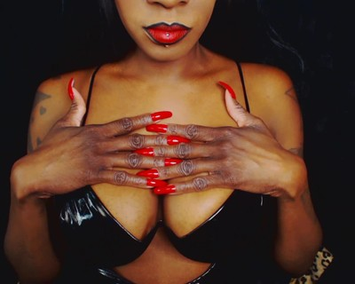 Thumbnail for Miss_DarkNess's Premium Video Just My beautiful long red nails and cleavage.