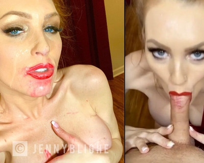Thumbnail for JennyBlighe's Premium Video Whipped Cream Blowjob Facial (new boobs out)